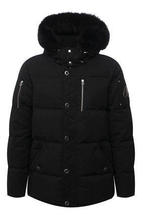 Мужская пуховая куртка 3q с меховой отделкой MOOSE KNUCKLES черного цвета, арт. MK2228M3Q | Фото 1