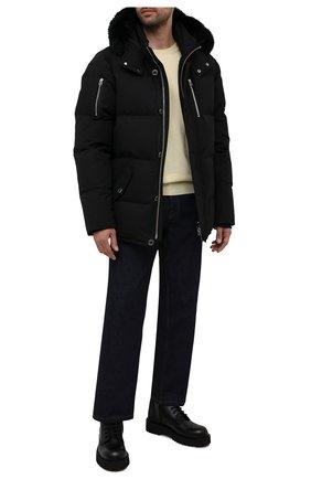 Мужская пуховая куртка 3q с меховой отделкой MOOSE KNUCKLES черного цвета, арт. MK2228M3Q | Фото 2