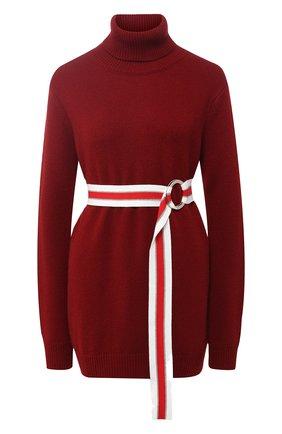 Однотонный кашемировый свитер с высоким воротником | Фото №1