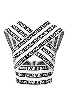 Топ с логотипом бренда на молнии   Фото №1