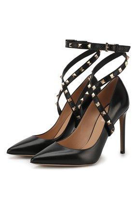 Кожаные туфли Valentino Garavani Studwrap на шпильке | Фото №1