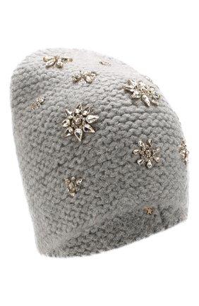 Шерстяная шапка с отделкой из кристаллов | Фото №1
