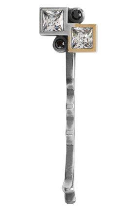 Женская серебряная заколка для волос BOTTEGA VENETA серебряного цвета, арт. 531309/VL90K   Фото 1