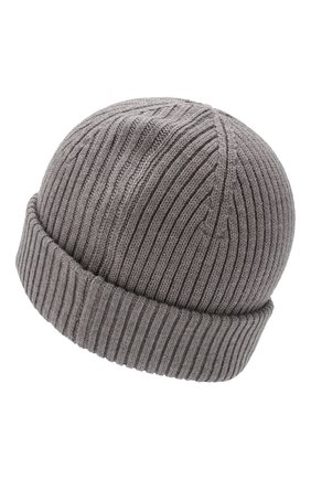 Мужская шерстяная шапка PARAJUMPERS серого цвета, арт. HA02/RIB HAT | Фото 2