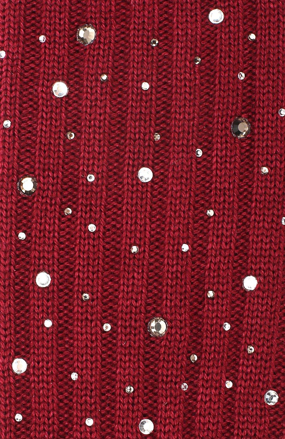 Детские гольфы из смеси шерсти и шелка La Perla бордового цвета   Фото №2