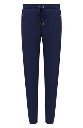 Женские брюки из вискозы MICHAEL MICHAEL KORS синего цвета, арт. MF73GXP7AW   Фото 1