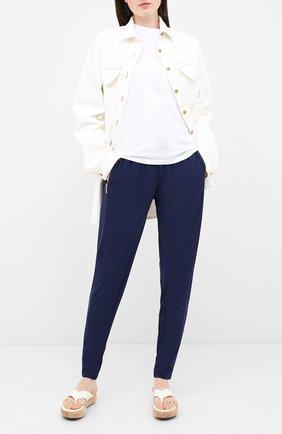 Женские брюки из вискозы MICHAEL MICHAEL KORS синего цвета, арт. MF73GXP7AW   Фото 2