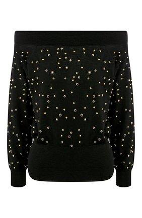 Шерстяной пуловер с декоративной отделкой | Фото №1