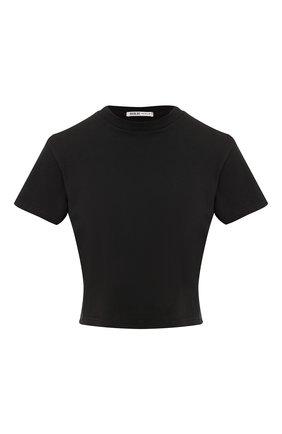 Укороченная хлопковая футболка с круглым вырезом | Фото №1
