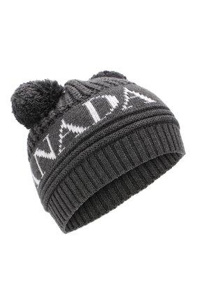 Шерстяная шапка с помпонами | Фото №1