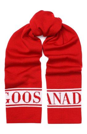 Детский шерстяной шарф CANADA GOOSE красного цвета, арт. 6955K | Фото 1