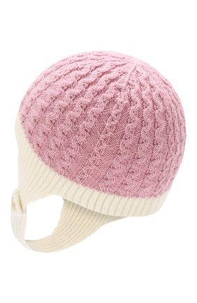 Детского шерстяная шапка MONCLER ENFANT розового цвета, арт. D2-951-99212-05-969BU | Фото 2