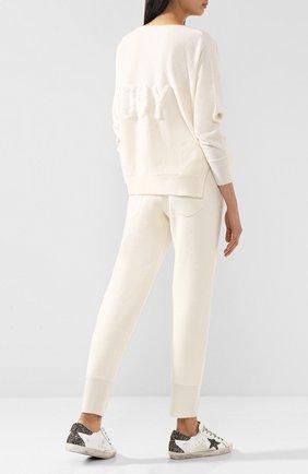 Пуловер из смеси шерсти и кашемира с отделкой из меха норки Max&Moi белый | Фото №1