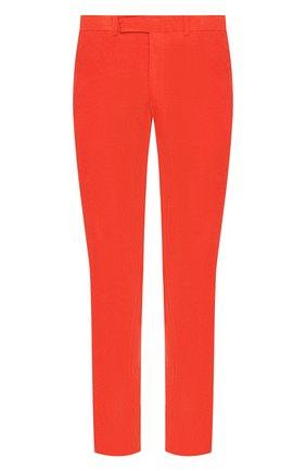 Мужские хлопковые брюки прямого кроя RALPH LAUREN оранжевого цвета, арт. 790565369   Фото 1