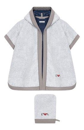 Комплект из хлопкового халата и рукавицы | Фото №1