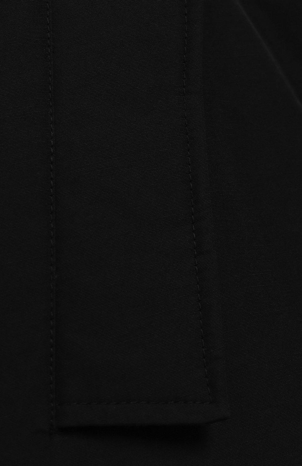 Детский парка с меховой отделкой на капюшоне WOOLRICH черного цвета, арт. WKCPS2028/CN03/8-16   Фото 3