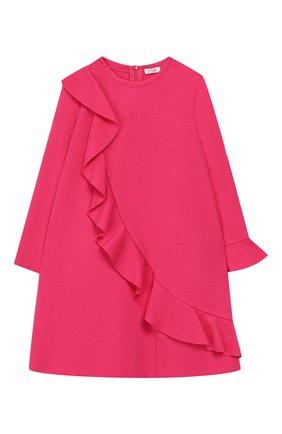 Мини-платье А-силуэта с оборкой   Фото №1