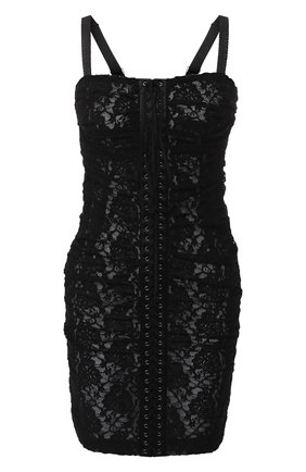 Кружевное платье-бюстье со шнуровкой   Фото №1
