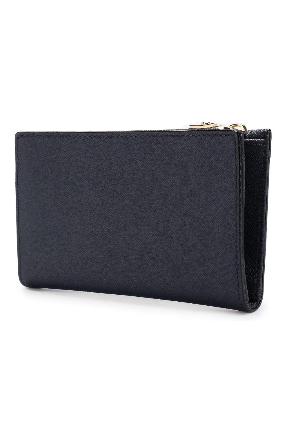 Кожаный кошелек Cameron Street Mikey Kate Spade New York синего цвета | Фото №2