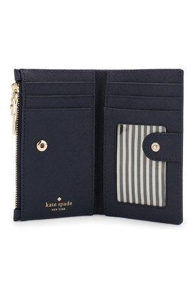 Кожаный кошелек Cameron Street Mikey Kate Spade New York синего цвета | Фото №3