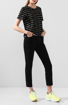Женские укороченные джинсы прямого кроя 3X1 черного цвета, арт. W4XS40966/KUR0 | Фото 2