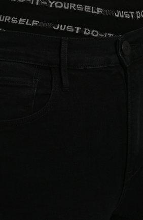 Укороченные джинсы прямого кроя | Фото №5
