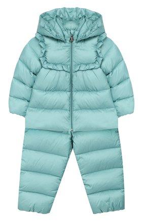 Детский пуховый комплект из комбинезона и куртки MONCLER ENFANT зеленого цвета, арт. D2-951-75324-05-53048 | Фото 1