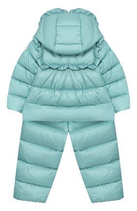 Детский пуховый комплект из комбинезона и куртки MONCLER ENFANT зеленого цвета, арт. D2-951-75324-05-53048 | Фото 2