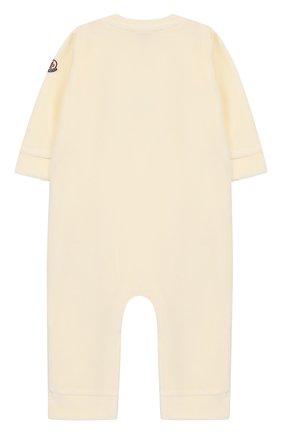 Детский бархатный комбинезон MONCLER ENFANT белого цвета, арт. D2-951-85733-06-8999Y | Фото 2