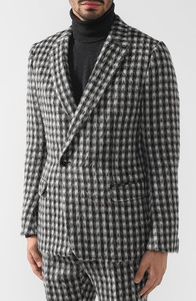 Костюм из смеси шерсти и кашемира с пиджаком на двух пуговицах | Фото №2