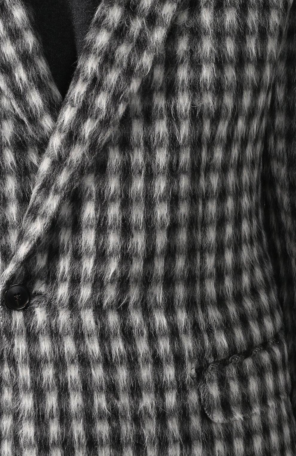 dd46ab70e061b Костюм из смеси шерсти и кашемира с пиджаком на двух пуговицах Zegna  Couture черно-белый