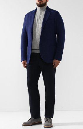 Мужской кашемировый пиджак LORO PIANA темно-синего цвета, арт. FAI2695   Фото 2