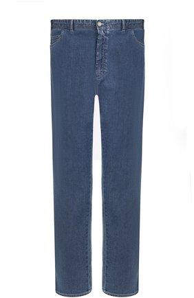 Мужские джинсы прямого кроя BRIONI синего цвета, арт. SPLE0L/07D24/CHAM0NIX   Фото 1