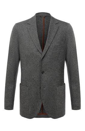 Мужской кашемировый пиджак LORO PIANA темно-серого цвета, арт. FAI2695   Фото 1