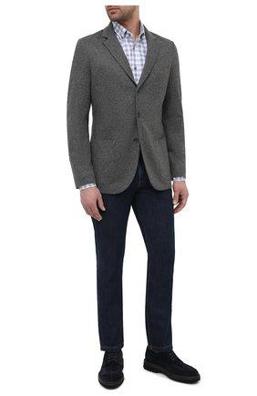 Мужской кашемировый пиджак LORO PIANA темно-серого цвета, арт. FAI2695   Фото 2