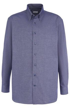 Мужская хлопковая сорочка с воротником кент ZILLI синего цвета, арт. MFQ-MERCU-46103/RZ01 | Фото 1