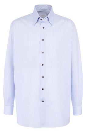 Мужская хлопковая сорочка с воротником кент ZILLI голубого цвета, арт. MFQ-MERCU-04705/RE01 | Фото 1