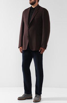 Мужские хлопковые брюки прямого кроя BRIONI темно-синего цвета, арт. SPLE0M/0Z002/CHAM0NIX | Фото 2