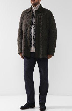 Двусторонняя куртка из смеси шерсти и шелка | Фото №2