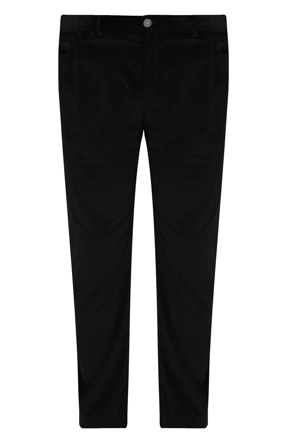Мужские хлопковые брюки прямого кроя BRIONI черного цвета, арт. SPLE0M/0Z002/CHAM0NIX | Фото 1