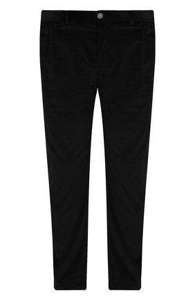 Мужской хлопковые брюки прямого кроя BRIONI черного цвета, арт. SPLE0M/0Z002/CHAM0NIX | Фото 1