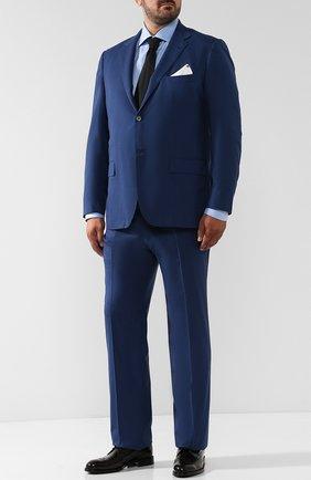 Мужская хлопковая сорочка с воротником кент BRIONI светло-голубого цвета, арт. RCL421/PZ023 | Фото 2