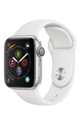 Apple Watch Series 4 (GPS) 40mm Silver Aluminium Case with White Sport Band | Фото №1