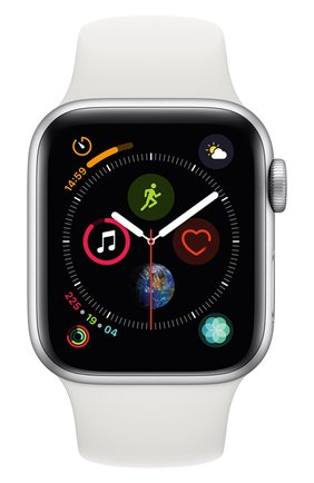 Смарт-часы Apple Watch Series 4 (GPS) 40mm Silver Aluminium Case with White Sport Band | Фото №2