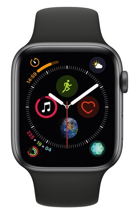 Смарт-часы Apple Watch Series 4 (GPS) 44mm Space Gray Aluminium Case with Black Sport Band | Фото №2