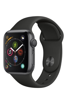 Apple Watch Series 4 (GPS) 40mm Space Gray Aluminium Case with Black Sport Band | Фото №1