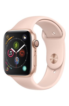 Смарт-часы Apple Watch Series 4 (GPS) 44mm Gold Aluminium Case with Pink Sand Sport Band | Фото №1