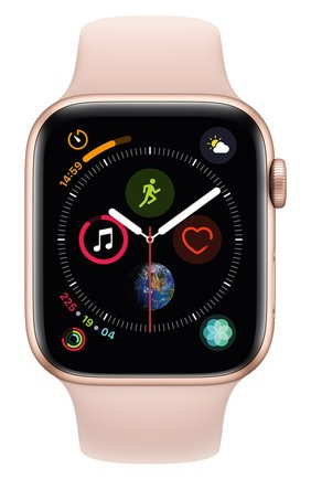 Смарт-часы Apple Watch Series 4 (GPS) 44mm Gold Aluminium Case with Pink Sand Sport Band | Фото №2