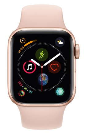 Смарт-часы Apple Watch Series 4 (GPS) 40mm Gold Aluminium Case with Pink Sand Sport Band | Фото №2