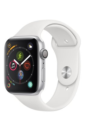 Смарт-часы Apple Watch Series 4 (GPS) 44mm Silver Aluminium Case with White Sport Band | Фото №1